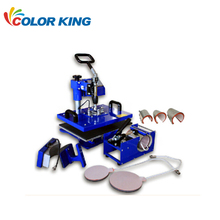 5IN1 combo heat press machines for sale fabrication heat transfer printing process t shirt sublimation pressing