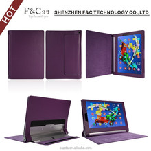 Premium pu leather stand folio smart cover for lenovo yoga tablet 2 10 case