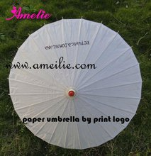 A0304 Personalized logo make paper umbrella