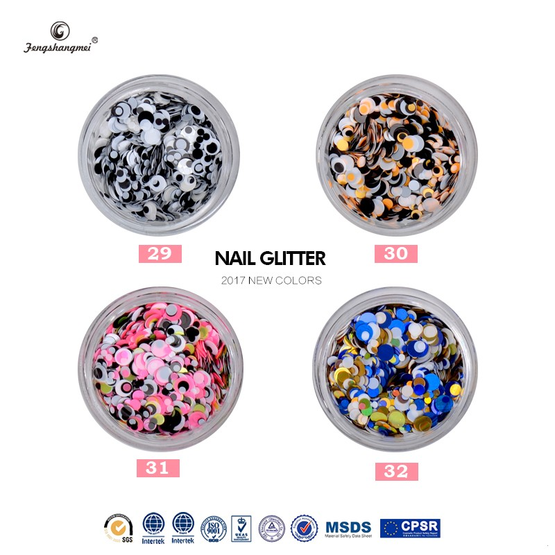 fengshangmei brand nail decorations round shape sequins glitter decorations