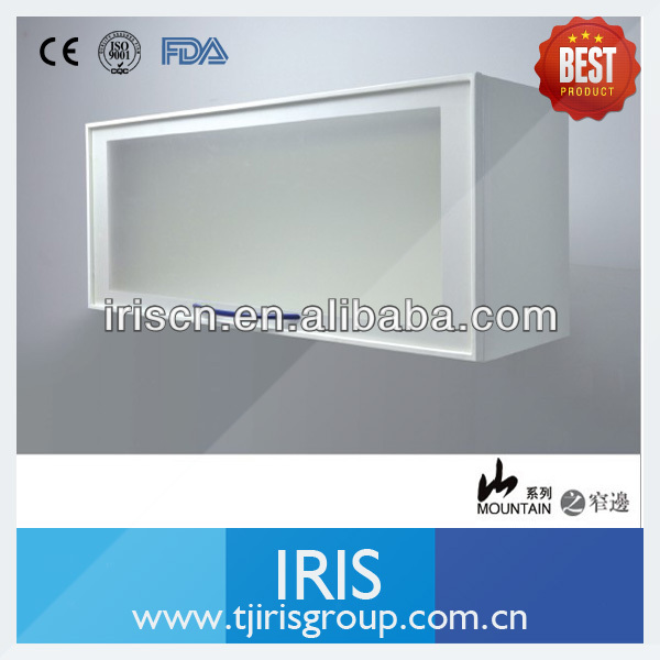 Wall mounted small cabinet with transparent door
