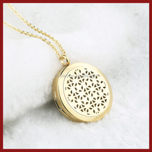 2018 Latest Design Classical Stainless Steel Essential Oil Diffuser Pendant Aromatherapy Necklace