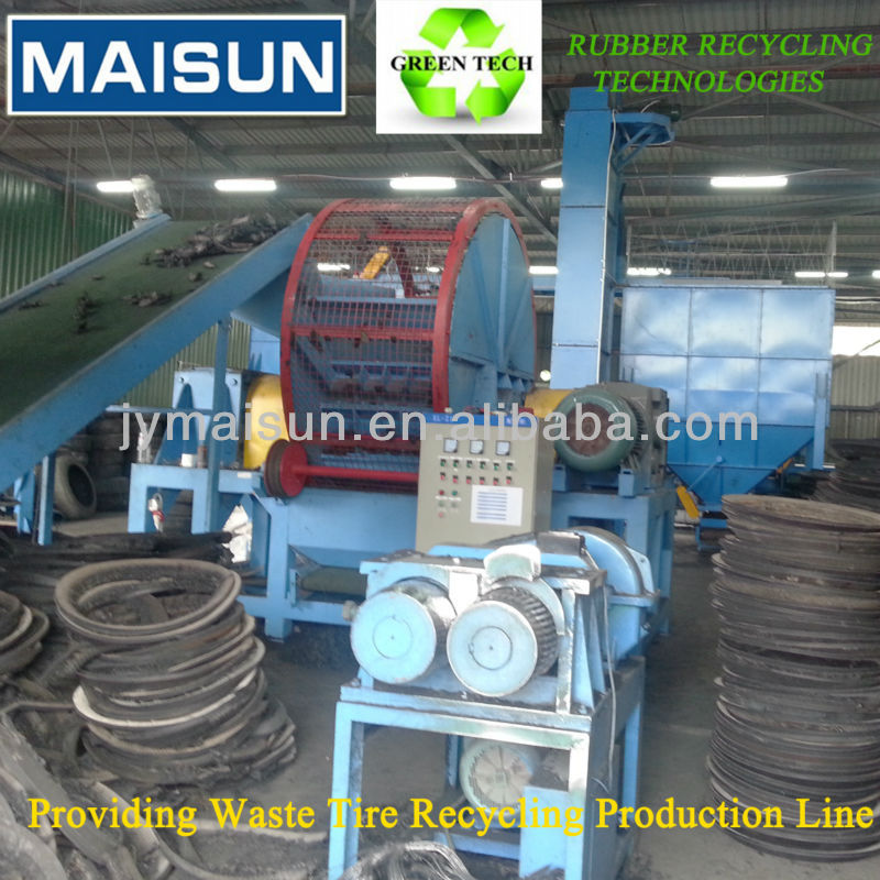 used tyre retreading machine waste tyre steel wire bead removal machine