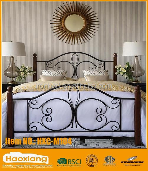 New craft fashionable modern double latest metal bed designs