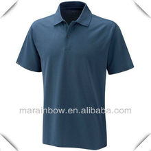 Mens navy blue self fabric collar plain design Golf Polo Shirt, welcome your logo for customized