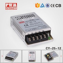 CY-25-12 CE approved 25w 12v2a single ac dc regulated led power supply ultra-thin