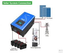 Inverter & Converter 110v 220v 3KW pure sine wave solar power system for America market