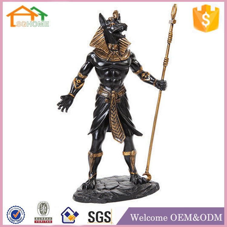 Factory Custom made home decoration polyresin egyptian statues for sale
