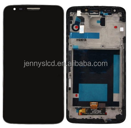 New and original LCD For LG G2 D800 LCD With Digitizer Assembly Black With Frame