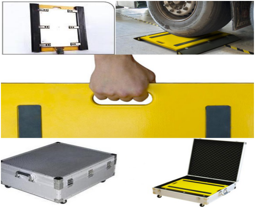 wireless portable static wheel scale 40t vehicle axle load weighing scale