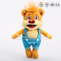 Soft cartoon fox stuffed animals plush education toys for baby