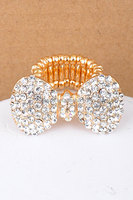 Fashion Gold butterfly knot elastic ring Wholesale NSRI-11453