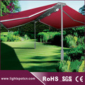 Electric freestanding double sided gazebo awning