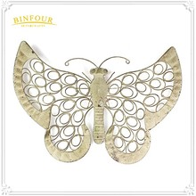 Decorative 3D wall decor modern Metal Wire Butterfly Wall Art