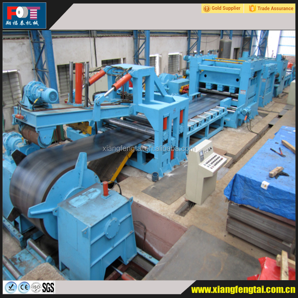 steel coil slitting and cutting to length machine line