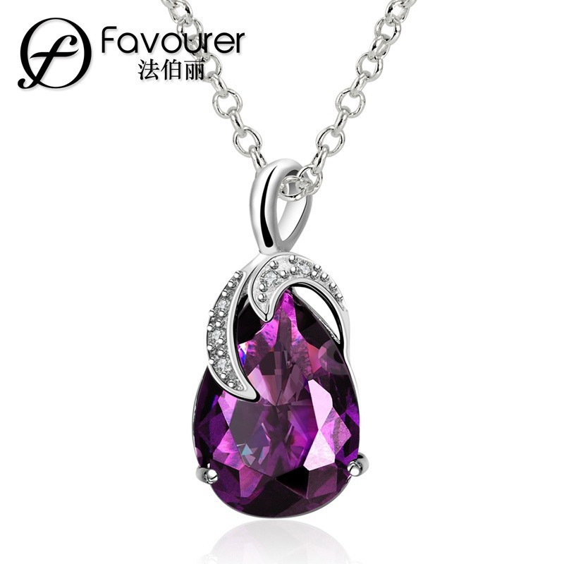 Exquisite Teardrop-shaped Stone CZ Charm Costume Jewelry