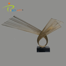 Abstract animal metal art eagle sculpture