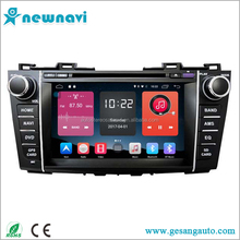 high resolution touch screen car gps navigation double din auto android 6.0 car dvd player for MAZDA 5
