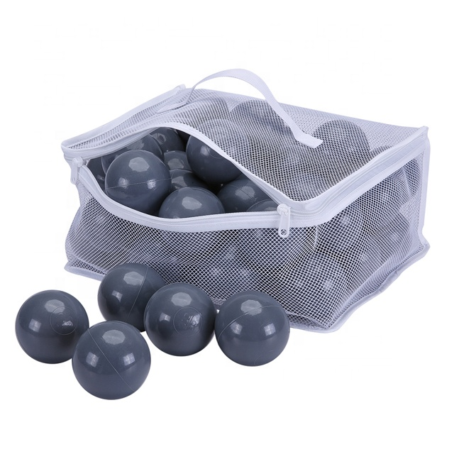 promotion China cheap crush proof soft anti-flexible bpa free black grey <strong>ball</strong> pit toy <strong>balls</strong>