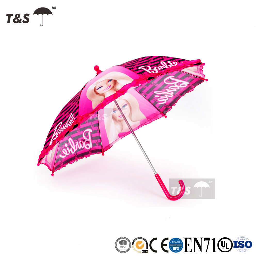Tianshuo outdoor waterfront UV resistant kids wholesale outdoor waterfront UV resistant kids transparent folding lace umbrella