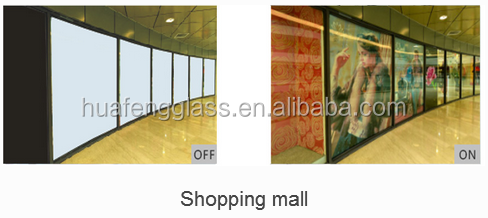 switchable smart glass for shopping mall