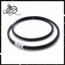 New Arrival Man Jewelry Black Leather Cord Necklace For Man Jewelry Wholesale