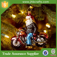 Personalized Resin Santa Riding A Motorcycle Christmas Ornaments