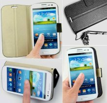 Snake Skin Textured Leather Flip Case for Samsung Galaxy S3 i9300