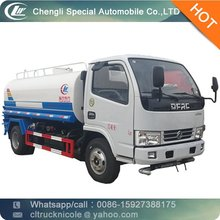 Dongfeng 4*2 95hp 4000-5000 liter small water tank truck used, used water tank truck for sale