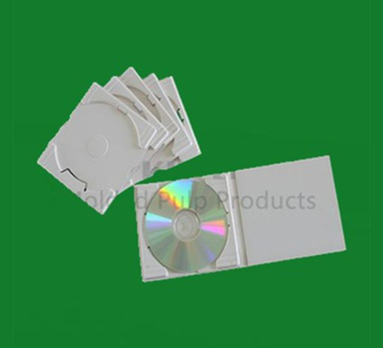 Customized dry pressing earth friendly paper pulp molded CD packaging