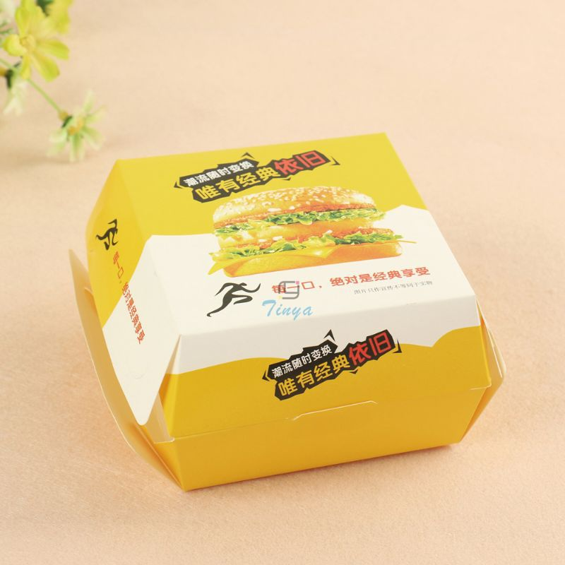cheap and hot sale paper cardboard burger box