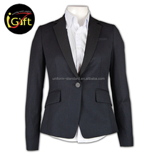 Two Button Good Quality Anti-Wrinkle Customizable Nice Trouser Suits for Women
