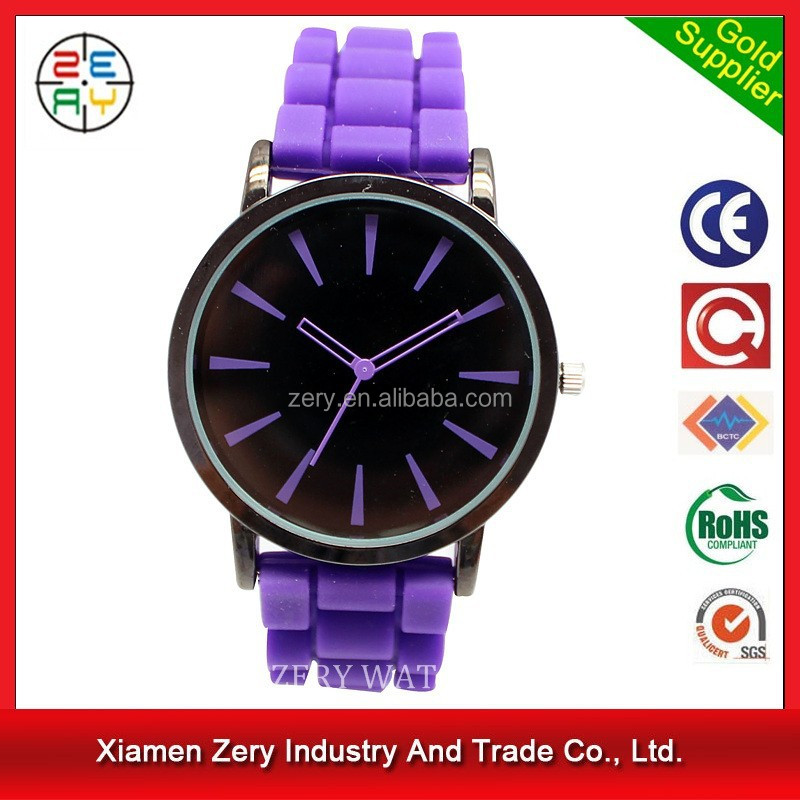 R0719 new arrival brand geneva watch watches violet
