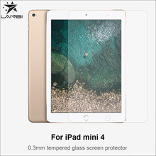 2017 Wholesales price Anti-scratch 0.3mm high quality Tempered glass screen protector For Ipad mini 4 with packing