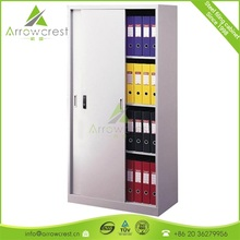 2017 New Metal frame lockable office steel sliding door filing cabinet
