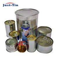 Wholesale three piece round tin can manufacturer for canned food product