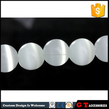 loose natural white color cat eye beads for necklace