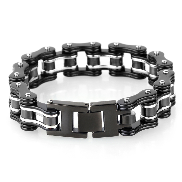 Heavy Mens Bracelet Jewelry Stainless Steel Bike Chain Bangle Bracelet <strong>Accessory</strong>