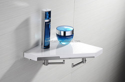 G080003 alibaba family with 2 hook bathroom corner metal shelf