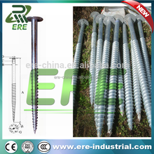 Wholesale In Ground Round ground screw pole anchor