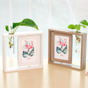 nordic design garden wall green planters with photo frame for home decoration