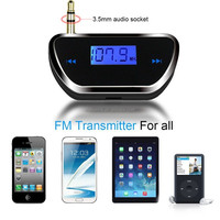 FM Transmitter Wireless radio 3.5mm Plug with Hands-free Calling & Car
