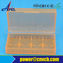 small plastic case transparant color 18350 batteries plastic storage case to protect battery 18350