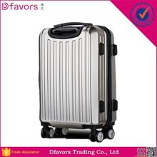 Factory price fashion travel trolley abs pc purple luggage british style luggage made in China