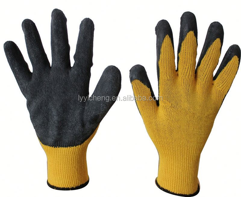 latex coated cotton glove/latex palm fit gloves
