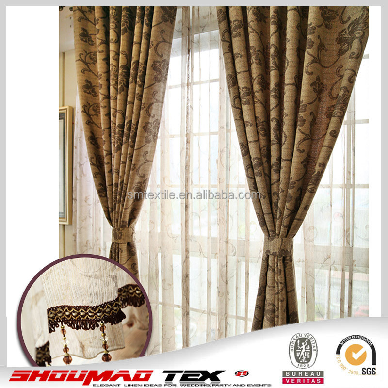 top quality luxury hotel curtain