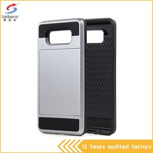 2016 new arrival pc and tpu gray color armor back case cover for samsung galaxy a7