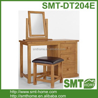 Hot Sales New Design Simple Solid Pine French Dressing Table