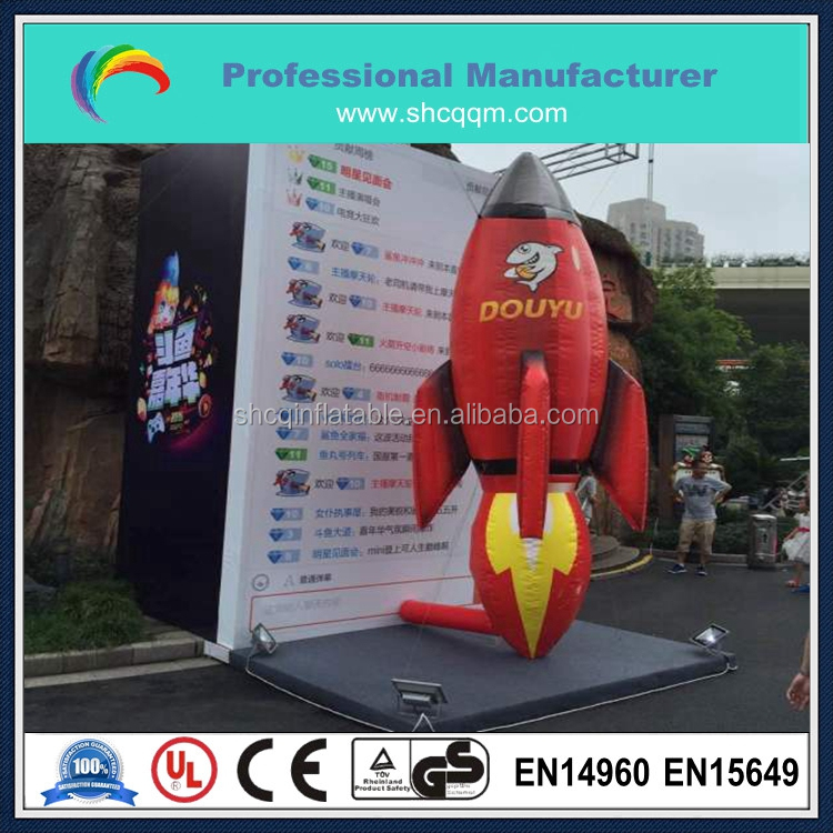 Advertising inflatable rocket model,inflatable rocket replica for auto show