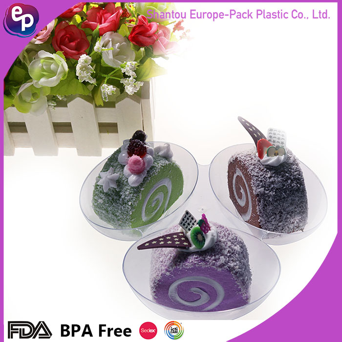 Custom designed 3-compartment disposable food container,dessert plate,container lid